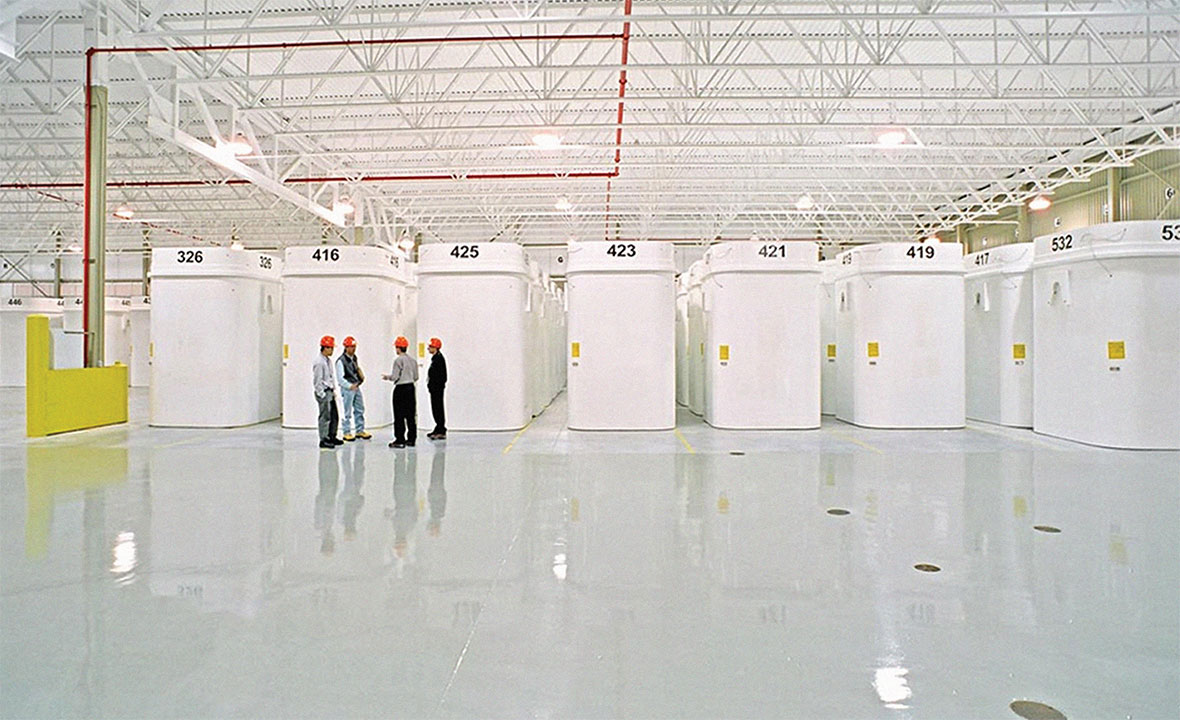 Dry storage containers for used nuclear fuel are managed at each of Canada's nuclear power generating sites