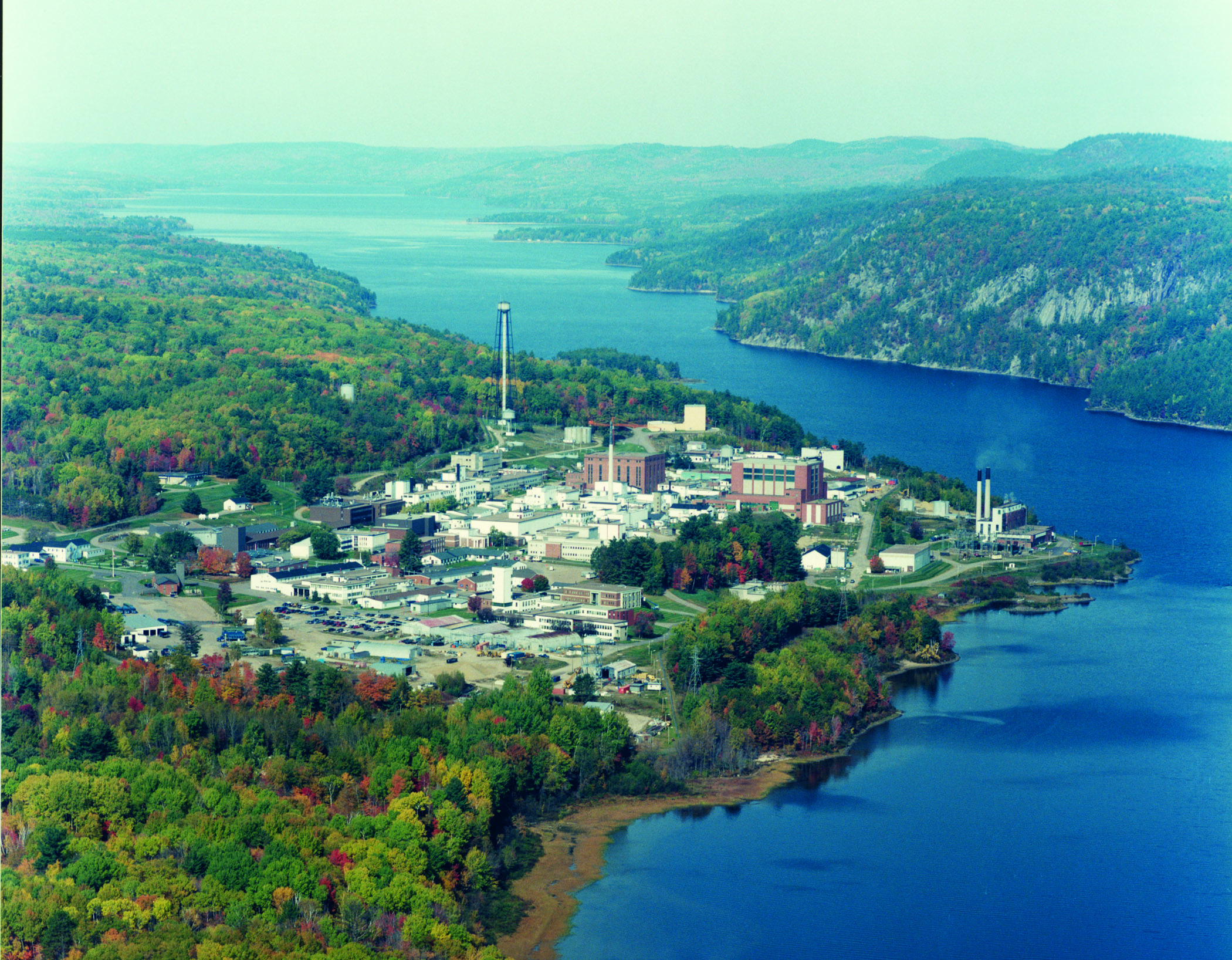 Aerial view of AECL's Chalk River Laboratories