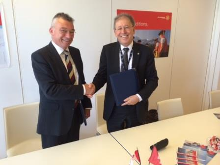 CNSC President Michael Binder and Dr. Hans Wanner, Director General of the Swiss Federal Nuclear Safety Inspectorate
