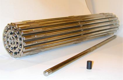 A typical fuel bundle used in a power reactor  measures about 50 cm and weights about 24 kg
