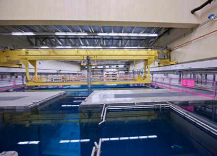 Used  fuel pool at a Canadian nuclear power plant