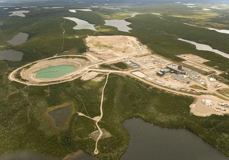 Tailings  management facility at AREVA's McClean  Lake, northern Saskatchewan